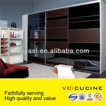 affordable modern modular glass wooden wardrobe