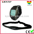 Wireless digital timer watch heart rate monitor