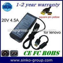 Shenzhen Laptop Power Supply for Lenovo ThinkPad X1 Carbon 20V 4.5A 90W Square tip P/N: 0B46999, B47000