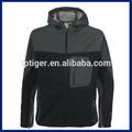 2014 mais recente projeto respirável com capuz casaco softshell revestimento dos homens