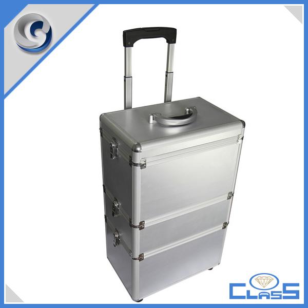 Heavy-duty Tool Case Road Case Hardware Tool Box Wheeled Cable Aluminum Flight Case MLD-AC489