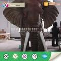 parque de atracciones animatronic realista de los animales elefante