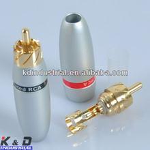 Male Solder Locking Audio Grade Connector RCA Plug