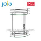 High Quality Bathroom Coner Dual Tempered Glass Wall Shelf