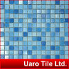 Blue range color mix swimming pool vitreous glass mosaic tiles