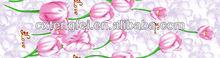 100% poli pastello disegno tulipano& spazzolato tessuto stampato per tessile casa