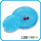 round shape glass plate /tempered glass trays