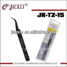 JK-T2-15 curved tip tweezer,CE Certification.