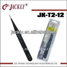 JK-T2-12,SUS304 Stainless Steel tweezers,CE Certification