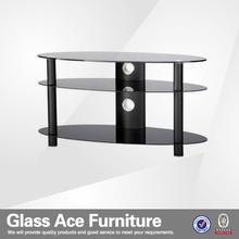 luxury modern glass tv stand