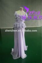 2013 Real Sample Hot Selling Lace Remove Skirt ZA-046 Detachable Celebrity Dress Paris Fashion Week Elie Saab Haute Couture