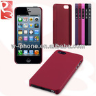 Solid Red Hard PC Hybrid Rubber Back Cover Case for iPhone 5S 5 With Packing Box