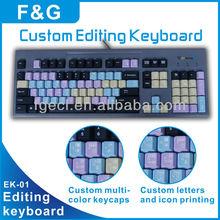 Custom keyboard/graphics editing keyboard/video editing keyboard/audio editing keyboard