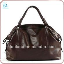 High end casual full grain vegetable cowhide genuine italian leather handbag satchel bag women