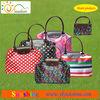 Fashinable folding leather handbag, tote bag, travel bag