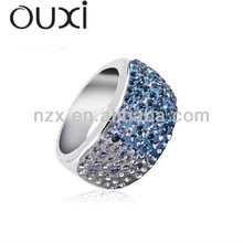 OUXI fashion unique finger rings with Austria crystal jewerly 40026