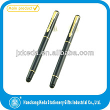 2014 High Quality Metal Matt Finish Engraved Logo Branded Stylus Pen roller pen