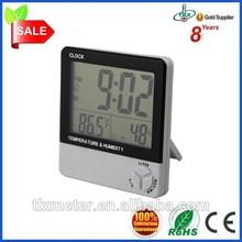 digital thermo hygro alarm clock and time display