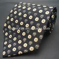 100% impresso gravata de seda