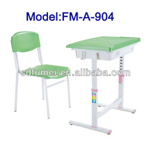 Supporting legs adjusting kids plastic study table FM-A-904