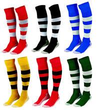 custom wholesale sports striped long socks football stockings