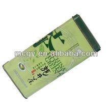 Rectangular Tall Empty Metal Tea Tin Can Chinese tea packaging