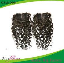 3.5x4/4x4 huamn hair lace closure virgin brazilian hair deep wave natural looking