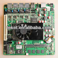 Intel Atom D525 Mini-ITX Board D525MF with 4 LANs and 12V DC IN,GMA 3150,DDR3,1 PCIE. For network security,Firewall motherboard.