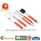 4pcs 2cr13 plastic handle bbq tools/Caming/Garden/Outdoor/BBQ-04B-19