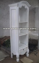 Indoor White Furniture - French Open Bookcase - Office Furniture with Shelves