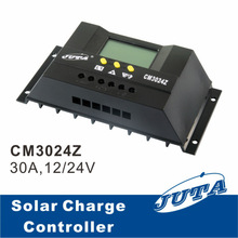 30A 12V/24V PWM Solar Charge Controller with LCD Display for 1000W Home System and Streetlight Use