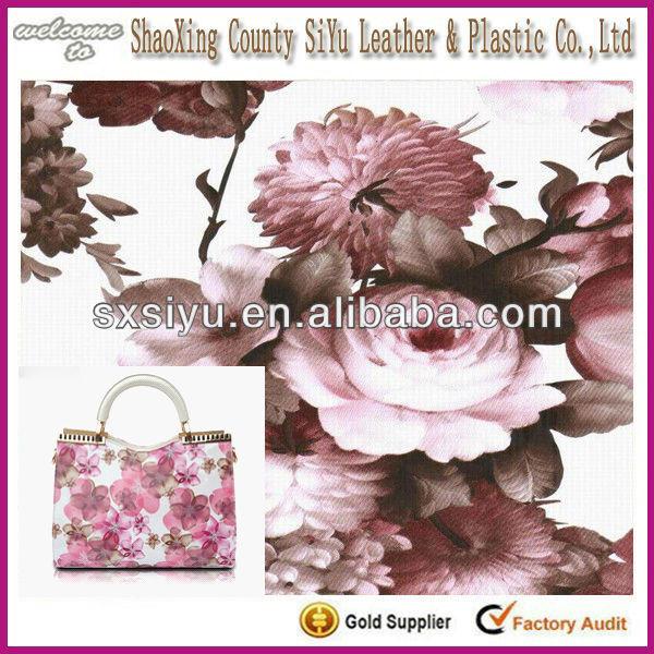 Qualité Fine chine en cuir PVC sac matériau