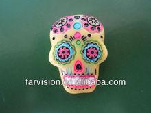 Cheap resin skull cabochons, flat back resin cabochon, resin cabochons for decoration