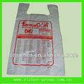 Reutilizables de plástico t- shirt bolsas con la impresión personalizada para la medicina de embalaje
