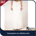 Flare falda larga blanco diseño formal de la mujer falda nueva( hysk337)