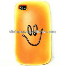 Funny Aromatic Bread Hamburger Style smile face case for iphone 4 4s