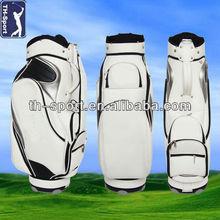 Custom Leather Golf Cart Bag With Cooler Bag