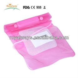 Clear PVC waterproof drawstring bag for mobile phone/camera