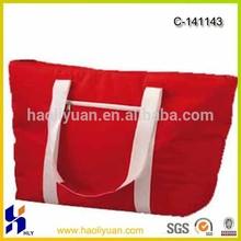 red lunch/water bottle shoulder/tote cooler bag