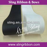 3 inch Grosgrain Ribbon in White and Black