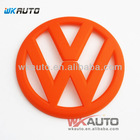 orange color vw golf 6 and polo rear car emblems and names