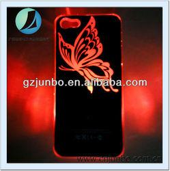 Butterfly Sense LED light Flash Hard Skin Case for iphone 5S