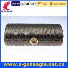 boa constrictor skin with korea crystals on button_G20233-088 party handbag beaded evening bags sequin handbags