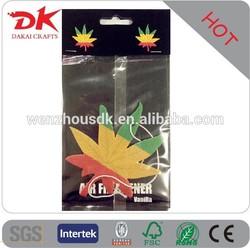 Custom 2MM thickness car air freshener wholesale , hanging car air freshener for car,paper air freshener