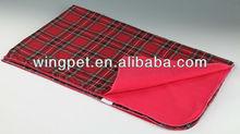 brand tartan cotton pet blanket