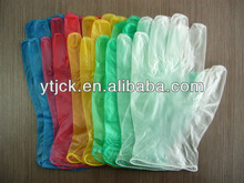 Colored vinyl disposable glove