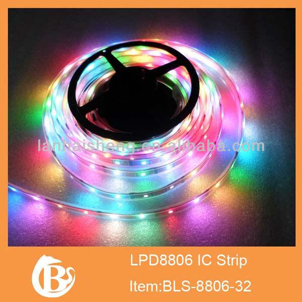 1M 5050 RGB 60 LED WS2812B Chip White PCB WS2811 Digital RGB LED Strip Light 5V , WS2812 IC, Smooth Effects