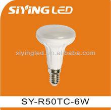 E14 R50 6W ceramic Led light bulb for indoor decorection light