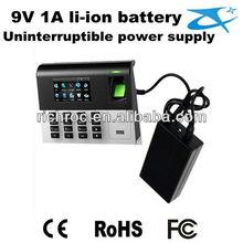 Back up 9V 1A uninterruptible power supply battery pack ,for finger print system