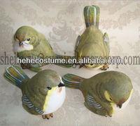 artificial plastic garden decoration polyresin miniature bird